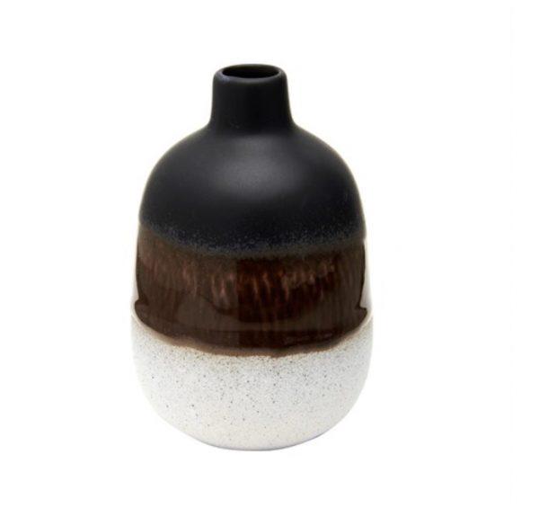 Sass and Belles Mojave Glaze Black Vase