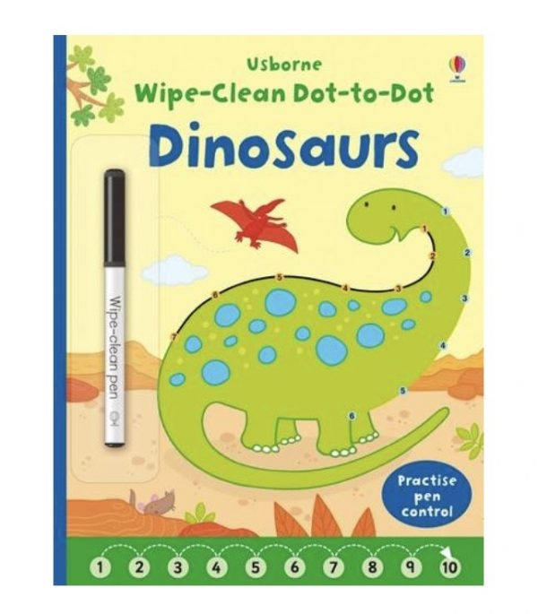 Wipe Clean Dot-to-Dot Dinosaurs Book