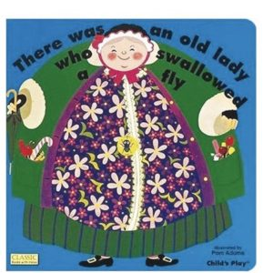 There Was An Old Lady Who Swallowed A Fly Book