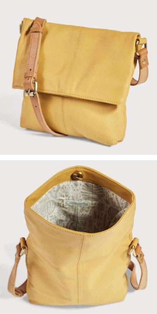 Leather Fold Over Bag