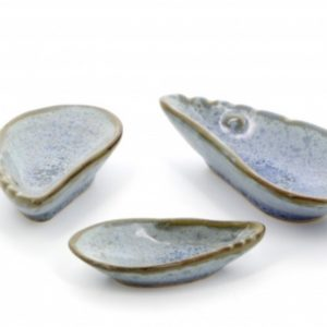 Puffer's Paradise - Set of Three Mussel Shell Dishes