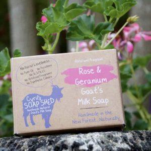 Rose & Geranium Goats Milk Soap