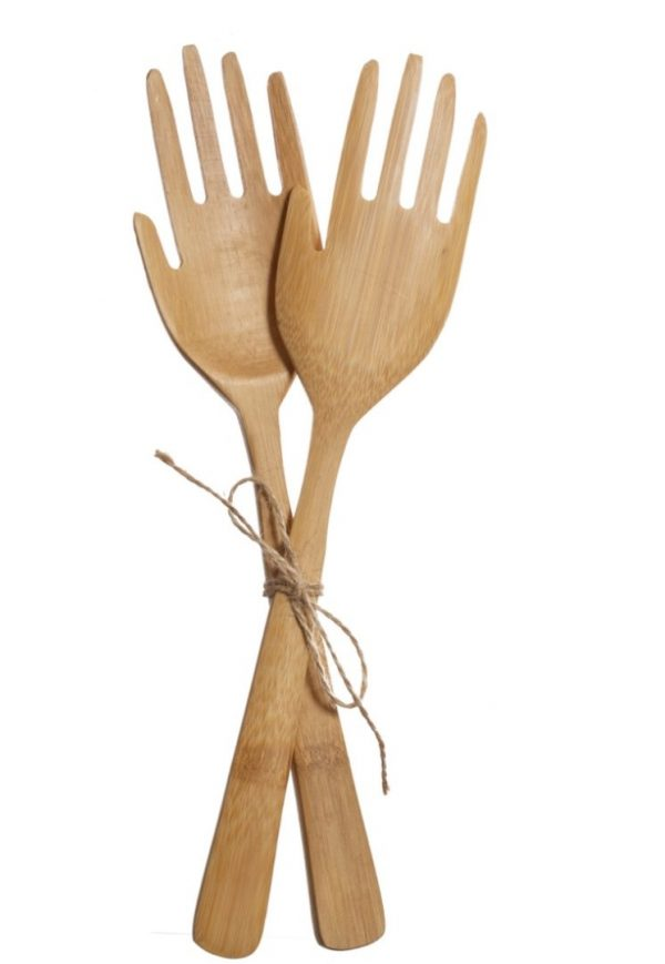 Sass and Belle Hand Bamboo Salad Servers