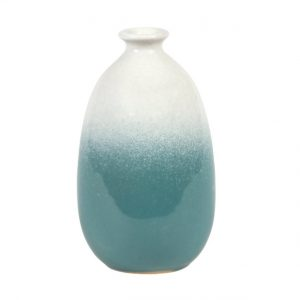 Sass and Belle Dip Glazed Ombré Turquoise Vase
