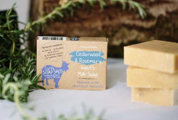 Cedarwood & Rosemary Goats Milk Soap