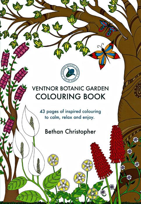 Beautiful Ventnor Botanic Garden Colouring Book